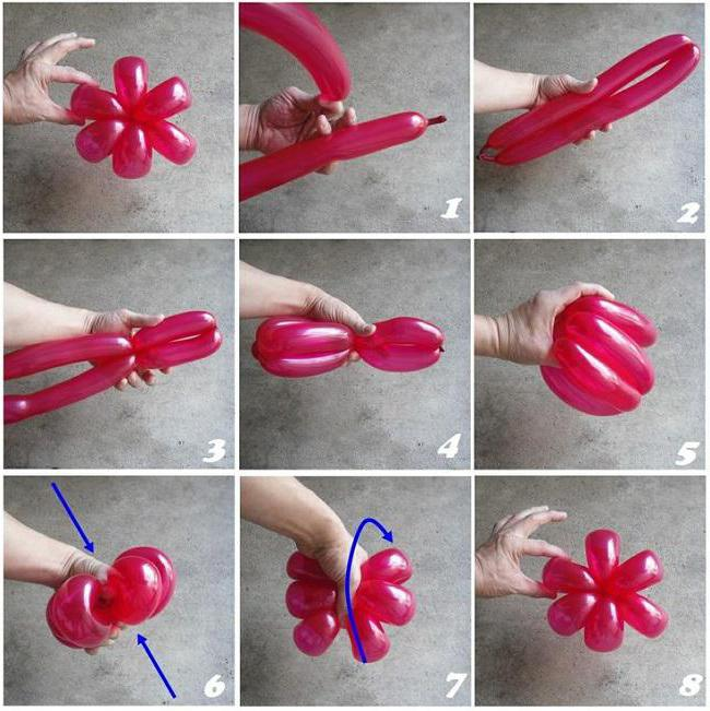 Цветы из воздушных шаров своими руками как делать 48