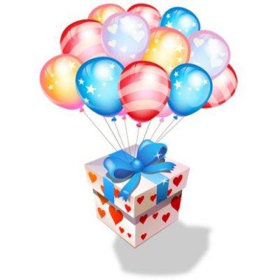"""Арт.014 Воздушные шарики, коробка """"СЮРПРИЗ"""""""