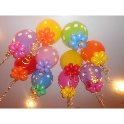 Арт.204 Воздушные шары с гелием  «Завитушки» 30 шт. BelBal, Бельгия.