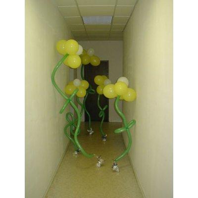 Арт.207 Воздушный шар с гелием «Смайл Завитушка» 20 шт.