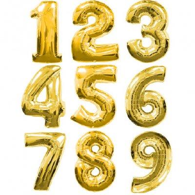 Арт.083 Шар цифра Фольгированная от 0 до 9