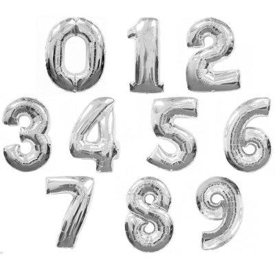"""Арт.089 Фольгированный шар цифра с гелием """"от 0 до 9"""""""