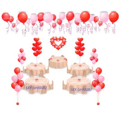 """Арт.005 Комплект воздушных шаров """"Свадебный"""" №2"""