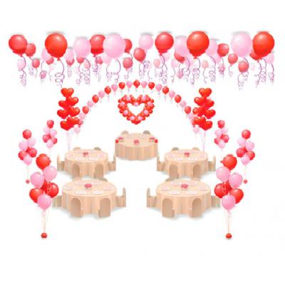 """Арт.006 Комплект воздушных шаров """"Свадебный"""" №3"""