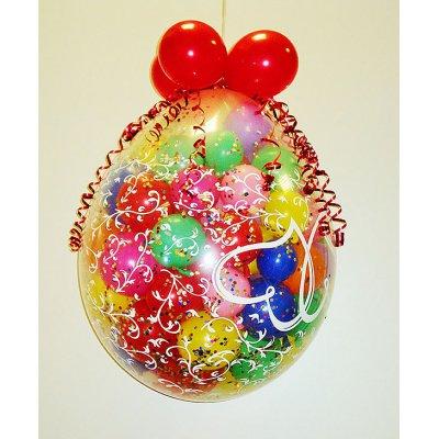 """Арт.061 Шар """"Сюрприз"""" с воздушными шариками и конфети"""