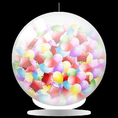 """Арт.062 Шар  """"Сюрприз"""" с воздушными шариками"""