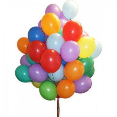 Арт.171 Гелиевые шарики с обработкой «Разноцветные» 50 шт., BelBal, Бельгия