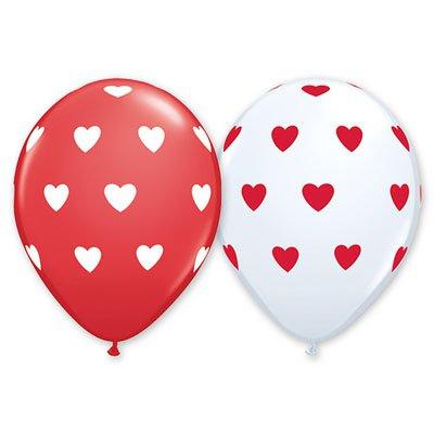 Арт.172 Воздушные  шары с гелием недорого «Изображение сердец», PIONEER/QUALATEX  США.