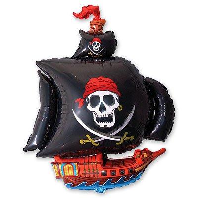 Арт.189 Фольгированный воздушный шар с гелием   «Пиратский корабль», Flex, Испания
