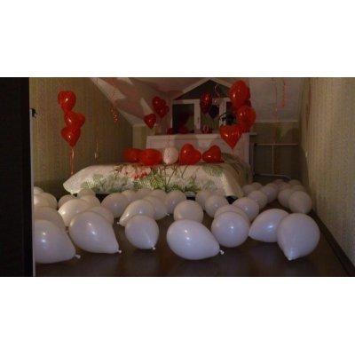Арт.194 Воздушные шарики-сердечки наполненные воздухом, 100 шт