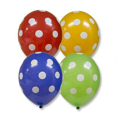 Арт.202 Воздушные шарики шелкография «Горошек», BelBal, Бельгия 25 шт.