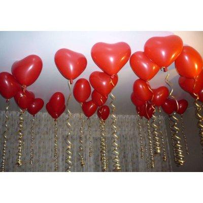 Арт.003 Воздушные шары «Сердечки» кристалл,  30 шт. Gemar, Италия.