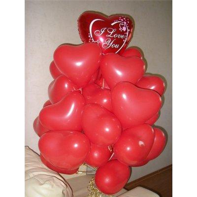 Арт.206 Воздушный шар  «Валентинка» среднего размера 1 шт.