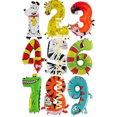 Арт.168 Фольгированная цифра наполненная гелием «от 1 до 9»
