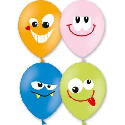 Арт.210 Воздушные шары с гелием 4 цветов «Улыбки», 25 шт.
