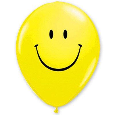 Арт.211 Воздушные шары с гелием  «Смайл», 20 шт. QUALATEX, США