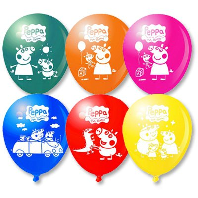 Арт.212 Воздушные шары с гелием  «Свинка Пеппа», 20 шт.