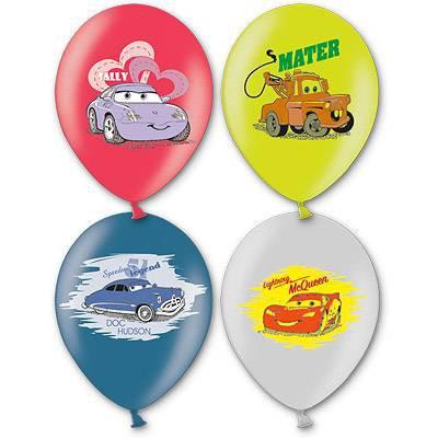 Арт.216 Гелиевые шары, перламутровые ассорти «Тачки» 25 шт., BelBal, Бельгия.