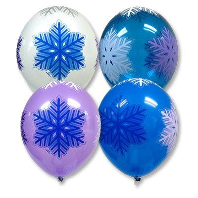 Арт.220 Воздушные шары с гелием  «Снежинки», 25 шт, BelBal, Бельгия.
