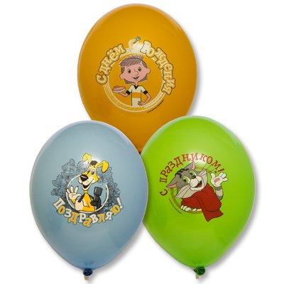 Арт.245 Воздушные шары с гелием ассорти  «Простоквашино» 25 шт. BelBal