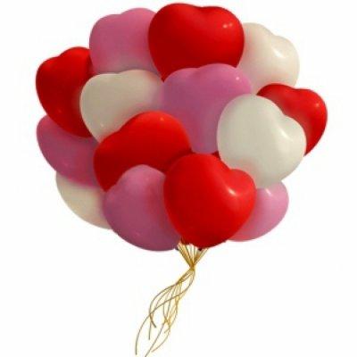 Арт.248 Воздушные шары «Сердца ассорти» 30 шт, Gemar
