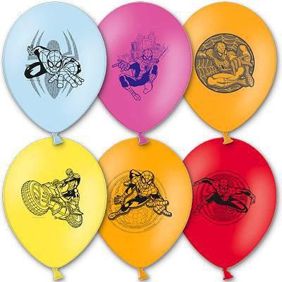 Арт.262 Воздушные шары с гелием  «Человек паук» 25 шт.