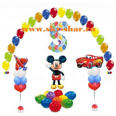 Арт.270 Воздушные шарики на День Рождения. «Комплект для мальчика»