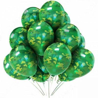 Арт.155 Воздушные шары с гелием  ассорти «Комуфляж », BelBal, Бельгия.