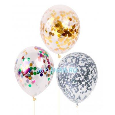Арт.325 - 90р. Воздушные шары с Конфетти 35 см.
