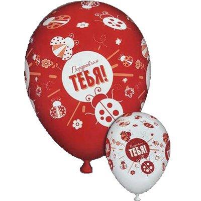 Арт.346 Воздушные шары с доставкой  «Поздравляю Тебя» 25 шт.
