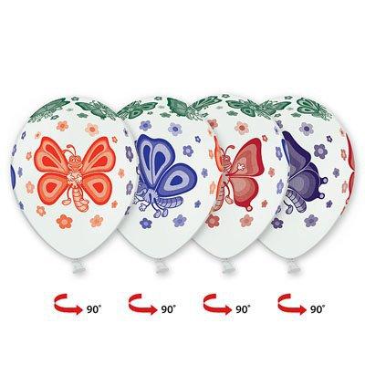 Арт.451 Шары с рисунком «Бабочки» 25 шт.