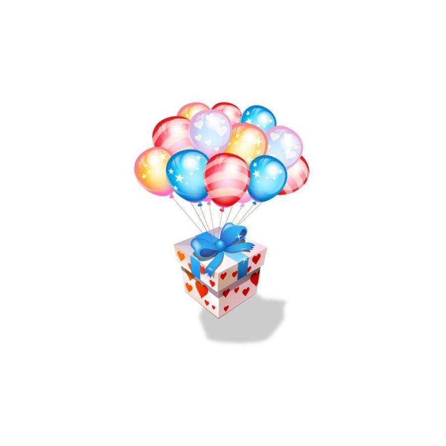 Подарок с сюрпризом коробка с шариками